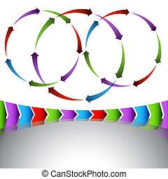 diagram, venn, perspectief, richtingwijzer