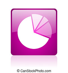 diagram violet square web glossy icon