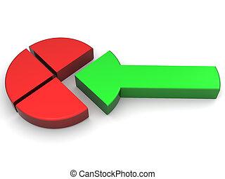 Diagram with arrow