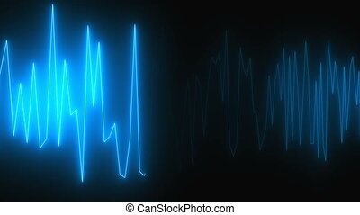 Diagram with lighting, cardiogram effect, creative for...