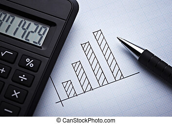 diagram, wykres, dla, finanse, handlowy