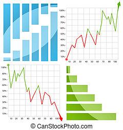 diagram, wykres, strzała, /, barwny