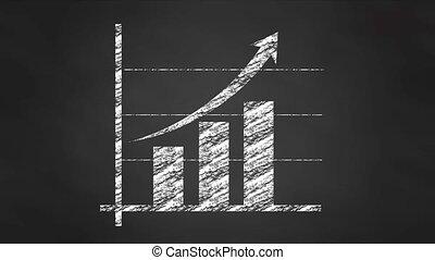 diagram, wykres, wykres, kreda, ożywienie, video