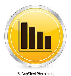 diagram yellow circle icon