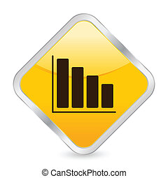 diagram yellow square icon