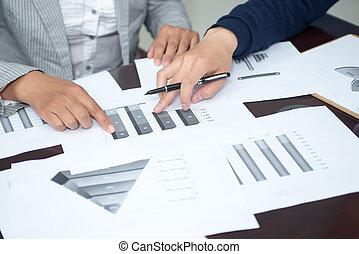 diagrama, análisis, manos