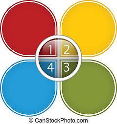 diagrama, colorido, empresa / negocio, brillante