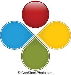 diagrama, coloridos, negócio, lustroso