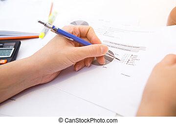 diagrama, contabilista, forma, opera