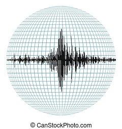 diagrama, de, el, terremoto