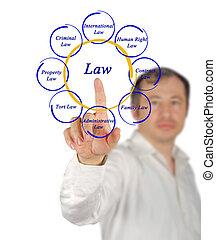 diagrama, de, lei