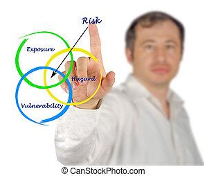 diagrama, de, risco