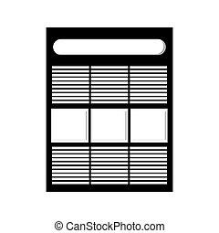 diagrama, documento, ícone