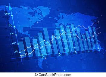 diagrama, finanças, mercado, estoque