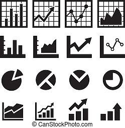 diagrama, gráfico, icono