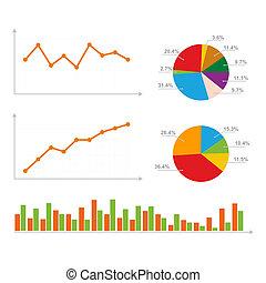 diagrama, gráficos, estatísticas, torta