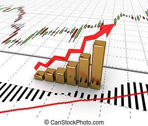 diagrama, growth), gráfico, (showing, renta