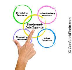 diagrama, inteligência, emocional
