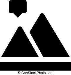 diagrama, montanha
