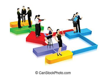 diagrama, negócio