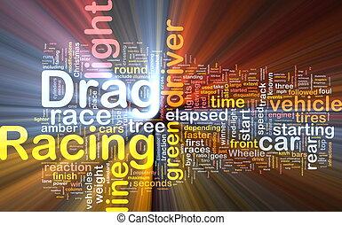 diagrama, obstáculo, concepto, carreras, encendido