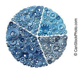 diagrama, pastel, empresa / negocio, gráfico