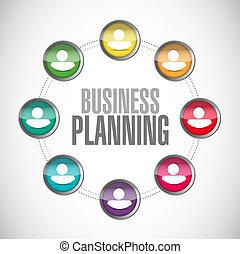 diagrama, planificação, ilustração negócio, pessoas