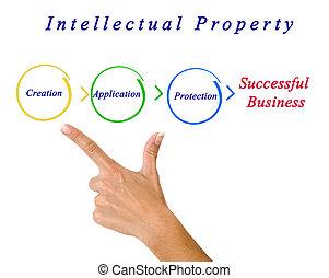 diagrama, propiedad, intelectual