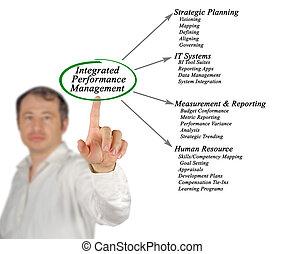 diagrama, rendimiento, dirección, integrado