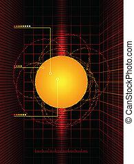 diagrama, sol