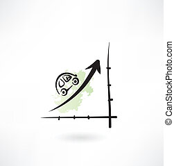 Draht, elektrisch, geschaeftswelt, kurve, diagramm, infographic ...