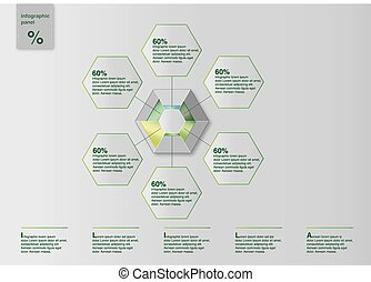 Diagramm Infografik Template Vector - Template for web or...