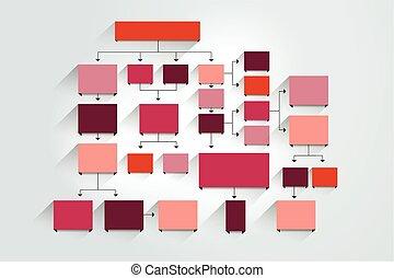 diagramm, infographic., tabelle, schema, fowchart, schablone
