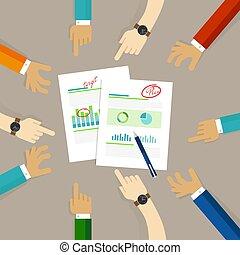 diagramma, affari, comunicare, idee, insieme, scrivere, pianificazione, carta, squadra, disegno