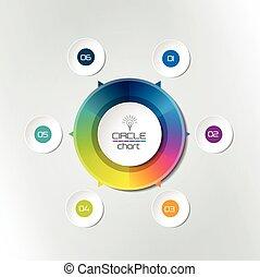 diagramma, cerchio, infographic, grafico, scheme.