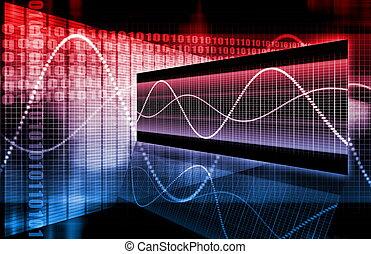 diagramma, corporativo, dati