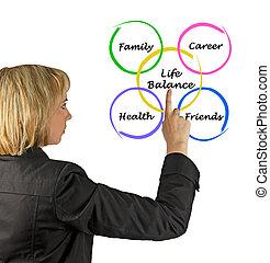 diagramma, di, vita, equilibrio