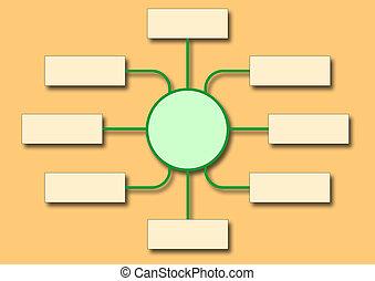 diagramma flusso, mostra, affari, struttura