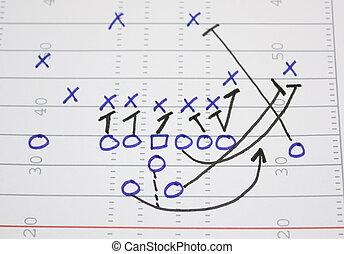 diagramma, gioco, football, scopare