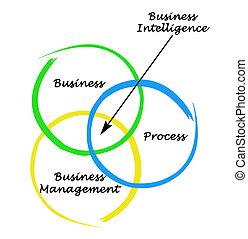 diagramma, intelligenza, affari