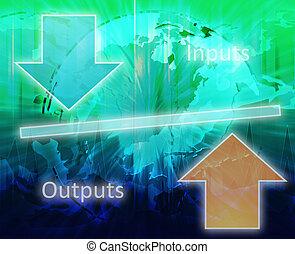 diagramma, teoria, affari, equità