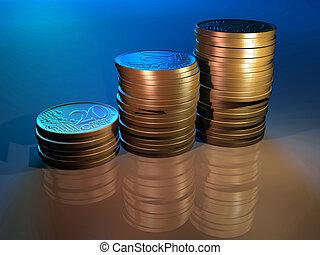 diagramme, argent