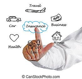 diagramme, assurance