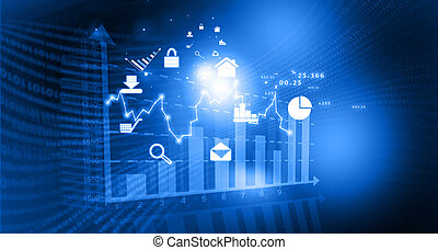 diagramme bourse valeurs, financier, fond