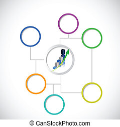 diagramme, business, conception, diagramme, illustration