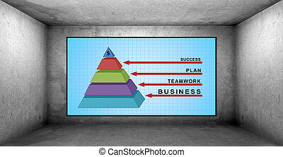 diagramme, business, reussite