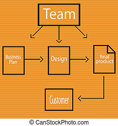 diagramme, business, template.