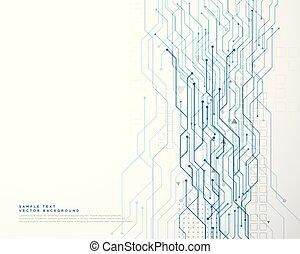 diagramme, circuit, technologie, réseau, fond