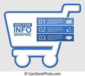 diagramme, concept, présentation, achats, illustration affaires, infographic, gabarit, vecteur