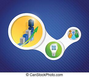 diagramme, conception, illustration affaires, infographics